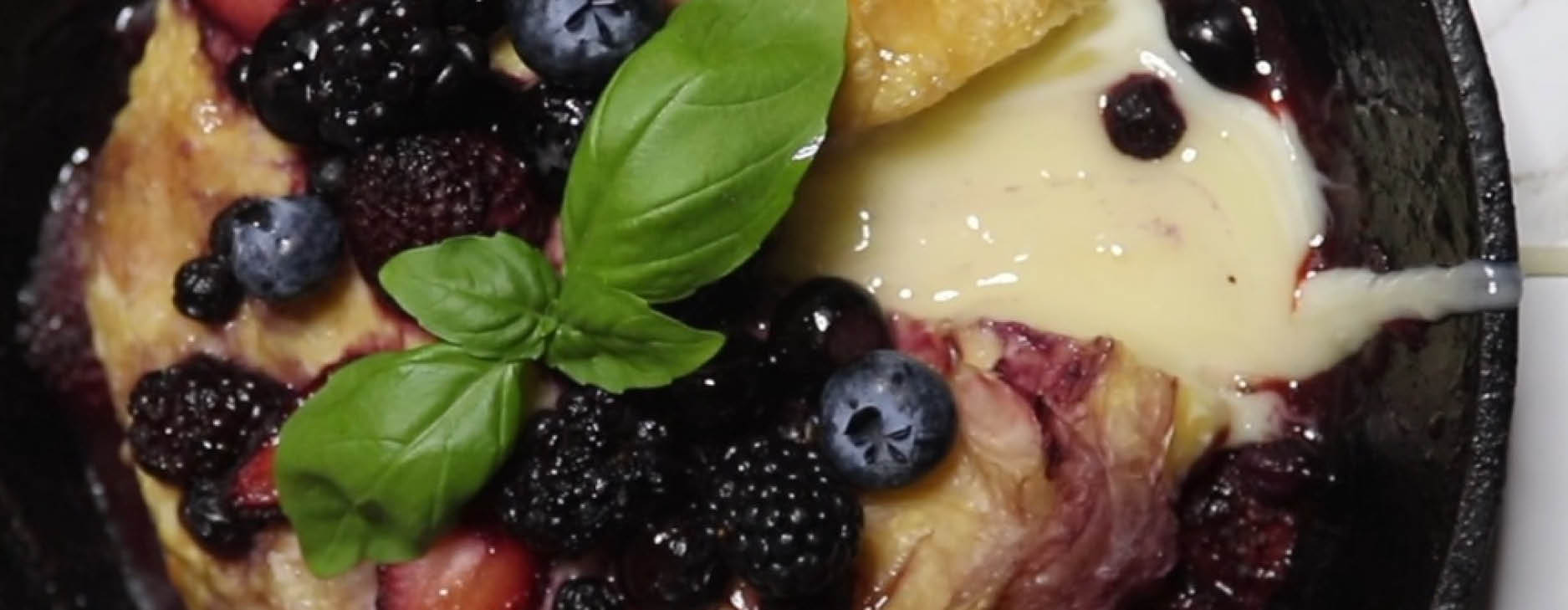 Berry Baked Brie with Bianca Sweet White Vinegar