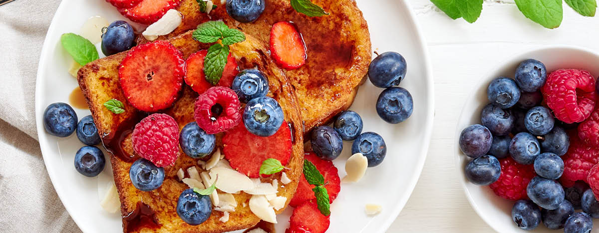 French Toast with Forrest Fruits and Balsamic Vinegar of  Modena