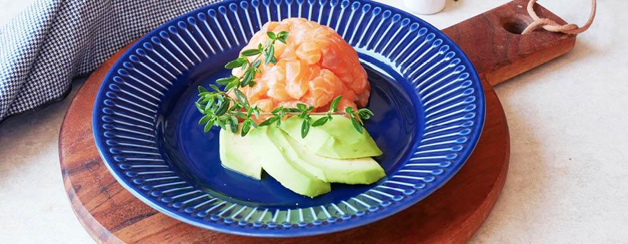 Salmon and avocado tartare with Sweet White Vinegar