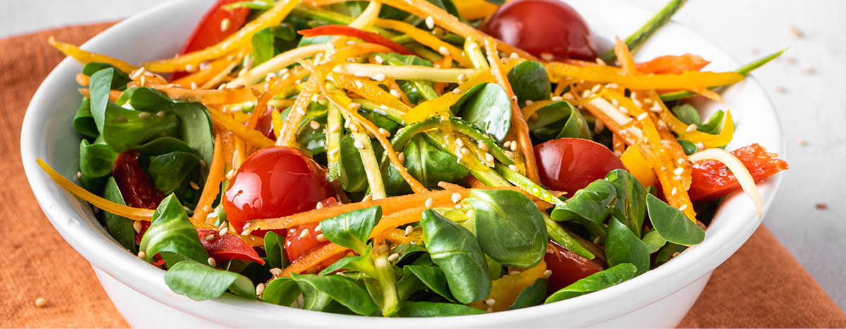 Summer Salad with Italian Cheese Dressing
